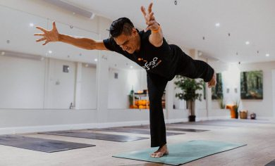 """Take your passion & make it happen"" by Chris Abay, founder of abaYoga."